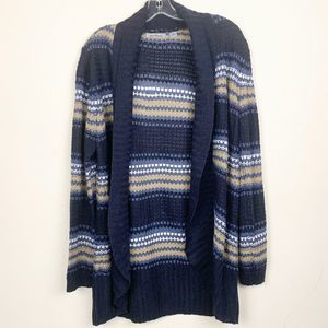 Jason Maxwell Blue Open Front Cardigan